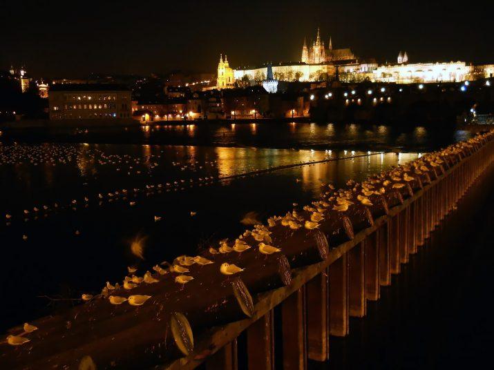 večerní Prahou...
