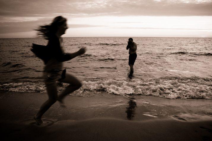 Běh na pláži